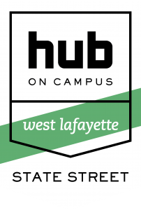 Shield Hub West Lafayette State Street Border Black CMYK